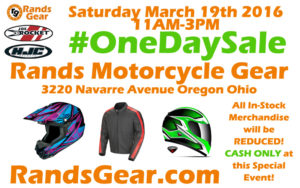 Sales Flyer for Rands last One Day Sale on Navarre Avenue.