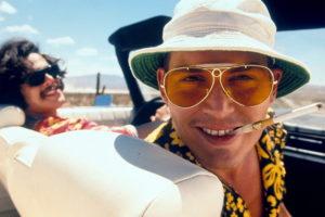 Johnny Depp portraying Hunter S Thompson