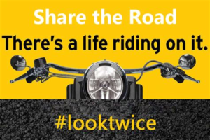PSA to encourage motorists to look twice for Motorcycles.