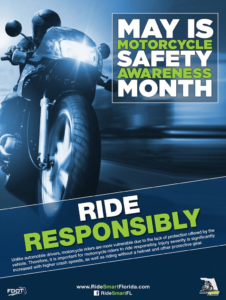 Motorcycle Awareness Meme aimed at reminding bikers to ride responsibly.