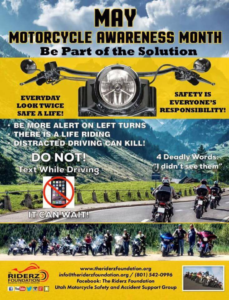 May is Motorcycle Awareness Month, Be Part of The Solution.